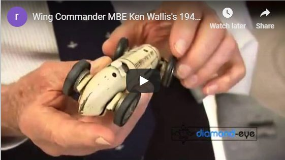 Wing Commander MBE Ken Wallis' 1942 Slot Car Racing Track