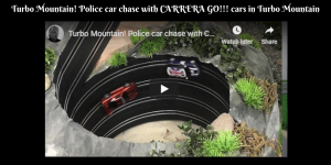 Turbo Mountain! Police car chase with CARRERA GO!!! cars in Turbo Mountain